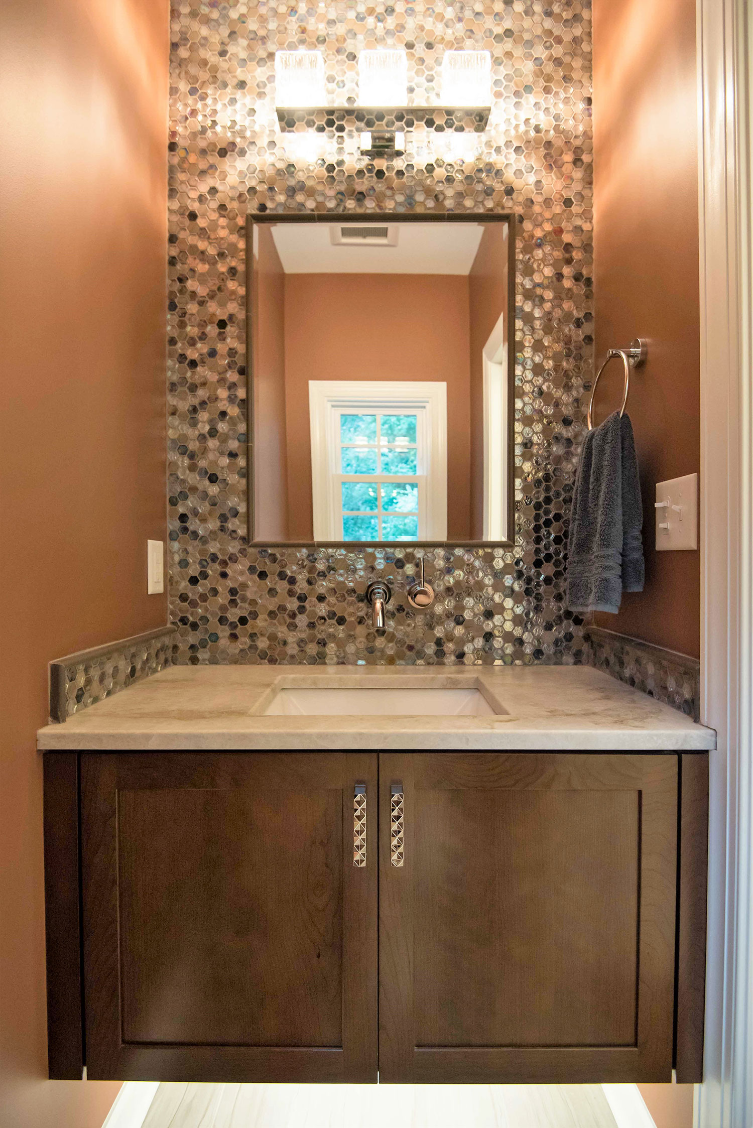 powder room remodel; Raleigh