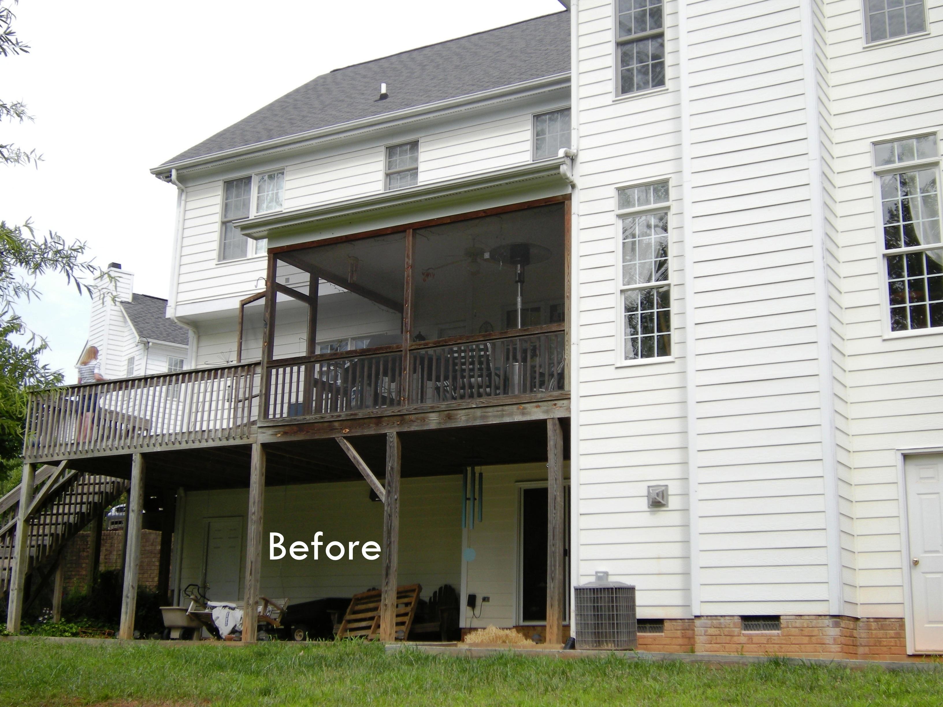 Capell porch before