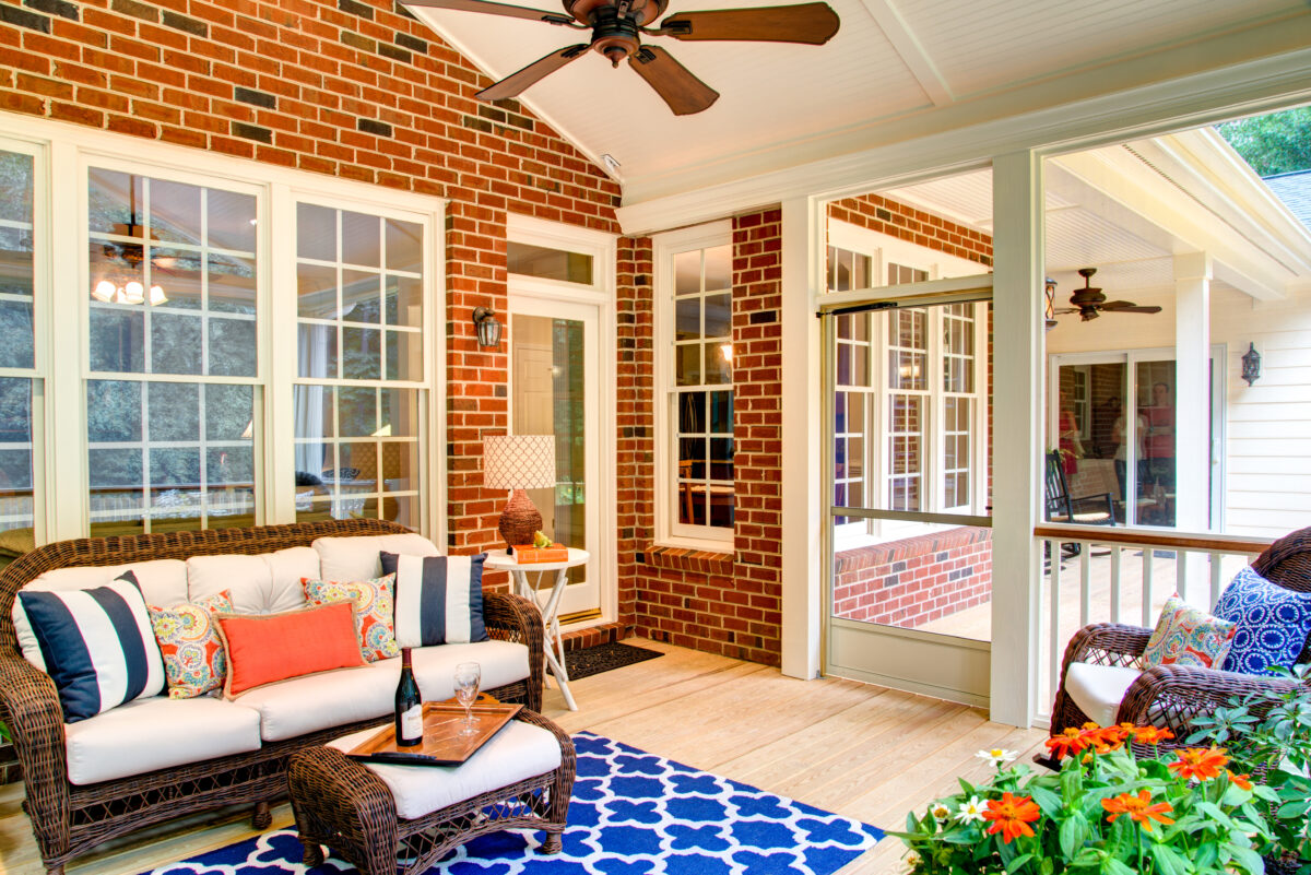 The screened porch has become one of the most used rooms in this home.