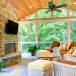 Stone Fireplace Focal Point