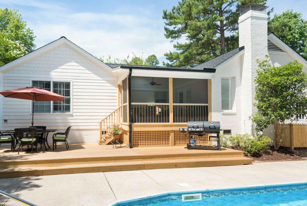 Remodeled Pool Deck